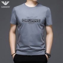 T-shirt Fashion City Blue black grey thin 165 170 175 180 185 190 Chiamania Short sleeve Crew neck standard Other leisure summer QDY - nineteen thousand one hundred and thirty-seven Regenerated cellulose 40.5% cotton 39.9% polyester 19.6% youth routine tide Summer 2021
