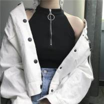 Vest sling Summer of 2019 Black (premium) white (premium) black (tank top) S M L XL 2XL singleton  have cash less than that is registered in the accounts Self cultivation commute other Solid color 18-24 years old 96% and above other Leia Butterfly Other 100% Pure e-commerce (online only)