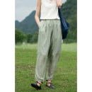 Casual pants Khaki, black, grayish green M, L Summer 2021 trousers loose  Natural waist commute Thin money 30-34 years old 96% and above 212SK293 Pastoral Tour silk literature pocket silk Asymmetry