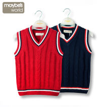 Vest male Red, gray, Zhangqing, Tibetan 90cm,100cm,110cm,120cm,130cm,140cm,150cm,160cm,165cm Maybe's world No season routine There are models in the real shooting Socket leisure time Pure cotton (100% content) Solid color Cotton 100% cm191450 Class B