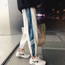Casual pants Others Youth fashion Camouflage pants [regular], two bar Leggings [regular], leather rope black [regular], leather three bar [regular], chest stripe white, A12 red, A12 black, reflective Pants Black, K02 white, K02 black routine Ninth pants motion Self cultivation Micro bomb summer 2018