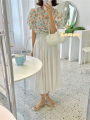 skirt Summer 2021 S,M,L white Mid length dress commute High waist Pleated skirt Solid color Type H 30% and below other other Korean version