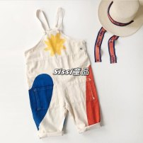 trousers Other / other neutral 80cm,90cm,100cm,110cm,120cm,130cm,140cm Bobo graffiti strap pants, Bobo graffiti T-shirt spring and autumn trousers leisure time There are models in the real shooting rompers Pure cotton (100% content) Cotton 100% BC Suspenders Chinese Mainland