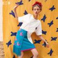 skirt Summer 2021 S M L Decor Short skirt Retro High waist A-line skirt Big flower Type A 25-29 years old S21CKBO24 51% (inclusive) - 70% (inclusive) Two or three things Viscose Fringe asymmetry Viscose fiber (viscose fiber) 59.3% polyamide fiber (nylon fiber) 40.7%