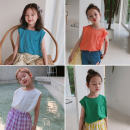 Vest sling Sleeveless 80cm,90cm,100cm,110cm,120cm,130cm,140cm summer Other / other There are models in the real shooting Korean version Solid color Crew neck other 2 years old, 3 years old, 4 years old, 5 years old, 6 years old, 7 years old Chinese Mainland