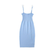 Dress Summer 2021 Black, blue, red, khaki Average size Short skirt singleton  Sleeveless street One word collar High waist Solid color Single breasted A-line skirt camisole 18-24 years old Type A Cotton Village printing 81% (inclusive) - 90% (inclusive) Denim