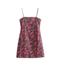 Dress Summer 2020 As shown in the figure S,M,L Short skirt singleton  Sleeveless commute High waist camisole Cotton Village Retro printing 81% (inclusive) - 90% (inclusive) other
