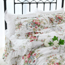 Bedding Set / four piece set / multi piece set cotton other Plants and flowers 133x72 Other / other cotton 4 pieces other Style one, style two, the same pillow cover 45 * 45cm, the same candy pillow with core, matching with white thickened cotton mattress Bed skirt Qualified products Princess style