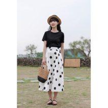 skirt Summer 2021 S,M,L,XL White, apricot