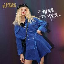 Fashion suit Winter 2020 S M L Sapphire Blue Sapphire Blue A 18-25 years old Elf sack / goblin's pocket 1031_ AL2012 81% (inclusive) - 90% (inclusive) cotton Cotton 80.6% rayon 19.4%