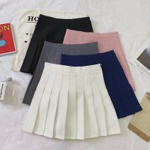 skirt Spring 2021 S,M,L Dark blue, gray, white, black, pink commute Solid color 18-24 years old 51% (inclusive) - 70% (inclusive) other Other / other other Korean version