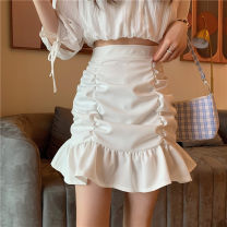 skirt Spring 2021 S,M,L White, black commute Solid color 18-24 years old 51% (inclusive) - 70% (inclusive) other Other / other other Korean version