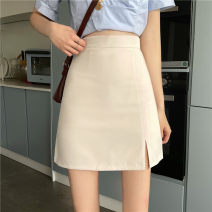 skirt Summer 2021 S,M,L Milky white, light blue, classic black Short skirt commute High waist skirt Solid color Type A 18-24 years old 31% (inclusive) - 50% (inclusive) other Korean version