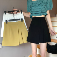 skirt Summer 2021 S,M,L,XL White, green, black Short skirt commute High waist Type A 18-24 years old 51% (inclusive) - 70% (inclusive) Korean version
