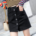 skirt Autumn 2020 S,M,L,XL,2XL Short skirt commute High waist A-line skirt Solid color Type A 25-29 years old 31% (inclusive) - 50% (inclusive) knitting Other / other cotton Pocket, button Korean version