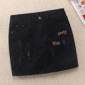 skirt Spring 2021 3XL,2XL,S,M,L,XL Black, elegant black Short skirt Versatile Natural waist Denim skirt letter Type H 25-29 years old Skirt 9000 71% (inclusive) - 80% (inclusive) Denim Other / other cotton Hand worn, pocket, worn, button, zipper