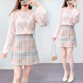Fashion suit Winter 2020 S M L XL Blue sweater + blue skirt yellow sweater + yellow skirt pink sweater + pink skirt 18-25 years old Qingxi Pavilion QXG20A0835 Polyester 60% other 40% Pure e-commerce (online only)