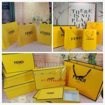 Fendi Fendi paper bag gift bag clothes scarf T-shirt Belt Purse silk scarf box portable cloth bag gift box