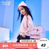 Sweater / sweater Future star Pink female 110cm 120cm 130cm 140cm 150cm 160cm spring and autumn nothing leisure time Socket routine There are models in the real shooting cotton letter Cotton 60% polyester 35% polyurethane elastic fiber (spandex) 5% TM21211861 Spring 2021