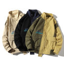 Jacket Other / other Youth fashion Khaki, green, black M. L, XL, XXL, XXL routine easy Other leisure autumn WSL-726 Wear out stand collar teenagers routine Zipper placket 2020 Straight hem No iron treatment other Color matching Three dimensional bag other