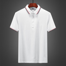 Polo shirt Junefe / Junfu Youth fashion routine Slw-2029 white slw-2029 black slw-2029 yellow slw-2029 dark green 4XL M L XL 2XL 3XL Self cultivation Other leisure summer Short sleeve SLW-2029 Business Casual routine youth Cotton 95% polyurethane elastic fiber (spandex) 5% Color block Cotton ammonia