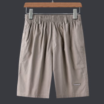 Casual pants Lieyan Fashion City Light grey black army green L XL 2XL 3XL 4XL thin Pant Other leisure easy No bullet FFB988 summer middle age Basic public 2021 Medium high waist Straight cylinder Cotton 100% Overalls Pocket decoration No iron treatment Solid color other cotton Summer 2021