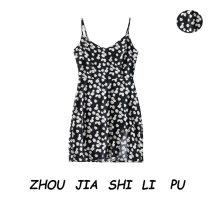 Dress Summer of 2019 black S,M,L singleton  V-neck Socket camisole 31% (inclusive) - 50% (inclusive)