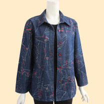 Middle aged and old women's wear Spring 2021, autumn 2021 Denim blue, fuchsia L [recommended weight 90-105 kg], XL [recommended weight 106-120 kg], 2XL [recommended weight 122-136 kg], 3XL [recommended weight 137-153 kg], 4XL [recommended weight 155-170 kg] leisure time shirt easy singleton  other