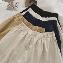 skirt Spring 2021 Average size White, apricot, khaki, Navy, black Mid length dress commute High waist A-line skirt Solid color Type A 25-29 years old 31% (inclusive) - 50% (inclusive) other Other / other other Korean version