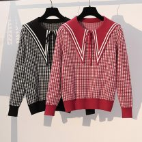 Women's large Spring 2021 Red, black Large L, large XL, m, 2XL, 3XL, 4XL, 5XL Knitwear / cardigan singleton  commute easy moderate Korean version routine Three dimensional cutting routine 51% (inclusive) - 70% (inclusive)