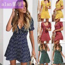 Dress Summer 2020 Red, yellow, green, navy S,M,L,XL D200DF070