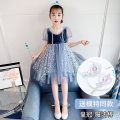 Dress Pink [Aisha skirt for crown + magic wand], blue [Aisha skirt for crown + magic wand] female Other / other 110cm,120cm,130cm,140cm,150cm,160cm Polyester 100% summer leisure time Long sleeves other chemical fiber Fluffy skirt Class A Chinese Mainland