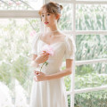 Wedding dress Summer 2021 Cream, green, red, black velvet M. , XS., S., additional 99 yuan for customization, XL., L Retro A-line skirt Bandage Hotel Interior other satin Grasp the pleat WD302 High waist 18-25 years old Please, Mr. Lu 91% (inclusive) - 95% (inclusive) polyester fiber