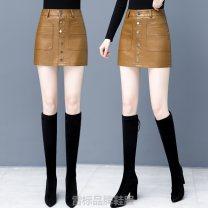 skirt Winter 2016 S,M,L,XL,XXL,XXXL,4XL,5XL Black, yellow& Short skirt skirt Solid color OYW5936