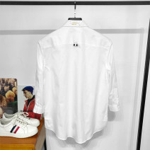 shirt Youth fashion DOLCA HOMME XL,S,M,L,2XL white routine square neck three quarter sleeve standard Other leisure summer youth Cotton 100% Exquisite Korean style 2020 Solid color No process other Embroidery