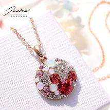Necklace Alloy / silver / gold 51-100 yuan Jiaobei Red pink green purple brand new Japan and South Korea female goods in stock yes no Below 10 cm yes
