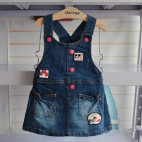 Dress navy blue female Other / other 90cm,100cm,110cm Cotton 100% spring and autumn leisure time Strapless skirt Cartoon animation Denim Denim skirt G09 12 months, 6 months, 9 months, 18 months, 2 years, 3 years
