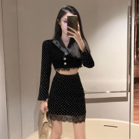Fashion suit Spring 2021 S for 78-95 kg, m for 95-105 kg, l for 105-115 kg black 25-35 years old Ya makeup akai SP-312# Polyester 55% other 45% Pure e-commerce (online only)