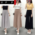 skirt Summer of 2019 M XL L Mid length dress commute High waist Pleated skirt Type A 18-24 years old More than 95% VFP other Korean version Other 100%