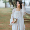 Lace / Chiffon Summer of 2019 White and apricot S M L Long sleeves commute Cardigan singleton  easy Medium length other Solid color other 18-24 years old Han Xuanwei HXW1238 Splicing literature Other 100% Pure e-commerce (online only)