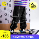 trousers AB (mother infant) male 110cm 120cm 130cm 140cm 150cm 160cm black spring and autumn trousers leisure time There are models in the real shooting Casual pants Leather belt middle-waisted other Don't open the crotch Polyester 70.7% polyamide 29.3% T-A211-008701 Class B Spring 2021