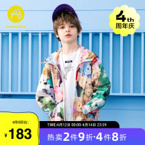Plain coat AB (mother infant) male 110cm 120cm 130cm 140cm 150cm 160cm Decor spring and autumn There are models in the real shooting routine No detachable cap other T-A212-005110 Other 100% Class C Summer 2021