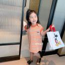 Dress Orange, blue female Other / other 90cm,100cm,110cm,120cm,130cm,140cm Other 100% summer leisure time Short sleeve stripe cotton A-line skirt other 12 months, 18 months, 2 years old, 3 years old, 4 years old, 5 years old, 6 years old, 7 years old, 8 years old Chinese Mainland Zhejiang Province