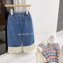 trousers Other / other female 140cm,130cm,120cm,110cm,100cm,90cm blue spring and autumn trousers Korean version There are models in the real shooting Jeans Leather belt middle-waisted cotton Don't open the crotch Other 100% other Chinese Mainland Zhejiang Province Hangzhou