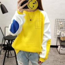 Sweater / sweater Осень 2017 Желтый оранжевый M L XL 2XL Пригородные Длинные рукава общепринятый Круглый шею Плюс бархат Отдельная деталь рыхлый