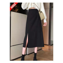 skirt Summer 2021 XL 2XL 3XL 4XL black Mid length dress Versatile Natural waist A-line skirt Solid color 25-29 years old GPBSQ More than 95% other Three sheep other Other 100%