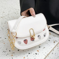 Bag The single shoulder bag PU Small square bag joushine White, black, yellow, green brand new Japan and South Korea Small leisure time soft Cover type no Solid color Single root One shoulder cross carry nothing youth other Sewing Soft handle soft surface