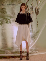 Dress Spring 2020 Blank and dark S M L Mid length dress singleton  Long sleeves commute other Loose waist Solid color Socket shirt sleeve 25-29 years old BANXIAOXUE literature BBJ111J244 71% (inclusive) - 80% (inclusive) cotton Same model in shopping mall (sold online and offline)