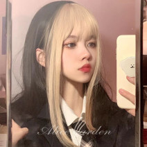 Whole wig High temperature silk Long straight hair Sweet and lovely Fashion girl bangs alice garden