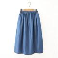 skirt Summer 2012 S,M,L,XL,2XL Dark, light Mid length dress Solid color